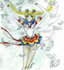 Eternal Sailor Moon - manga style with her first appearance.  Yay feathers!